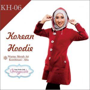Hoodie Grayscale Jaket korea Wanita Muslimah Terbaru