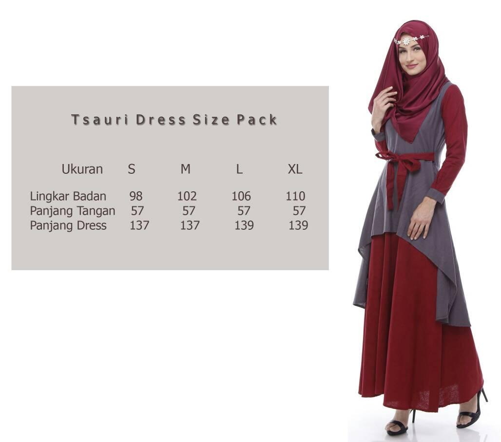 Jual Baju Muslim Wanita Online 2017 Tsauri Dress Maroon